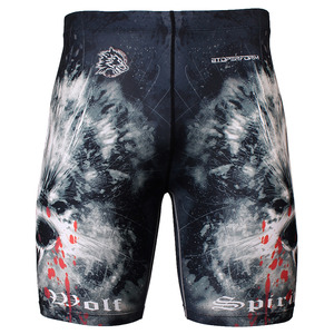 WOLF SPIRIT [FY-310] Full graphic compression shorts