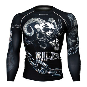 DEVIL CHAINED [FX-170] Full graphic Compression Long sleeve Rash guard