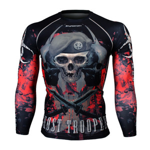 GHOST TROOPER -Red [FX-129R] Full graphic compression long sleeve shirt