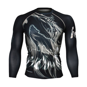 HOWL [FX-168] FULL GRAPHIC COMPRESSION LONG SLEEVE RASH GUARD