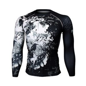 NIGHT OF THE RAVEN [FX-157] Full graphic compression long sleeve shirt