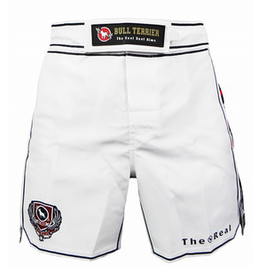 불테리어 파이트쇼츠 - BULL TERRIER Fight Shorts MUSHIN 3.0 White